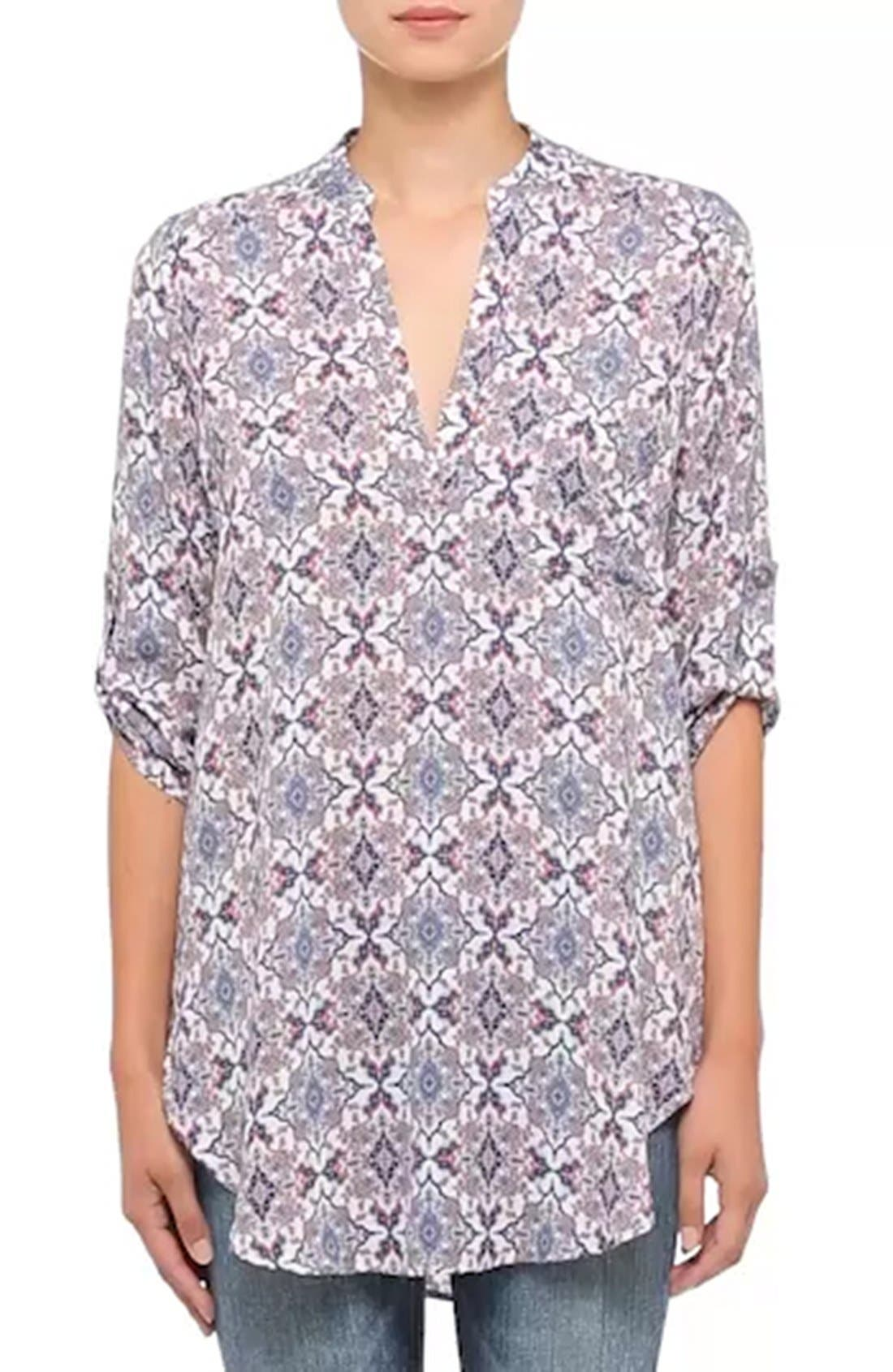 ,                             Perfect Roll Tab Sleeve Tunic,                             Alternate thumbnail 427, color,                             908