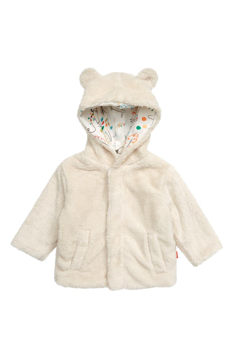 MAGNETIC ME Minky Fleece Hooded Jacket, Main, color, CREAM