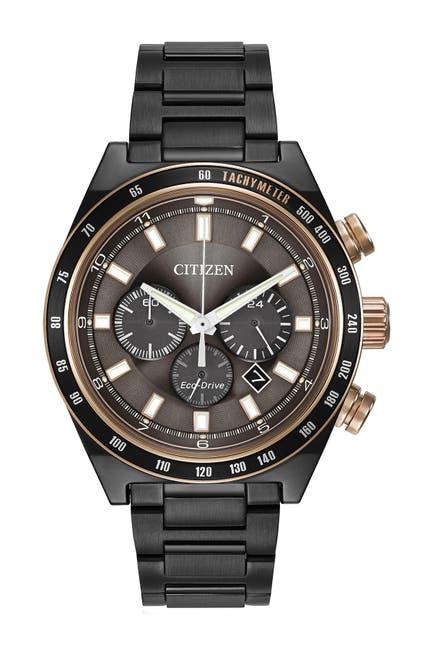 Image of Citizen Men's Eco-Drive Sports Chrono Gray Bracelet Watch, 42mm