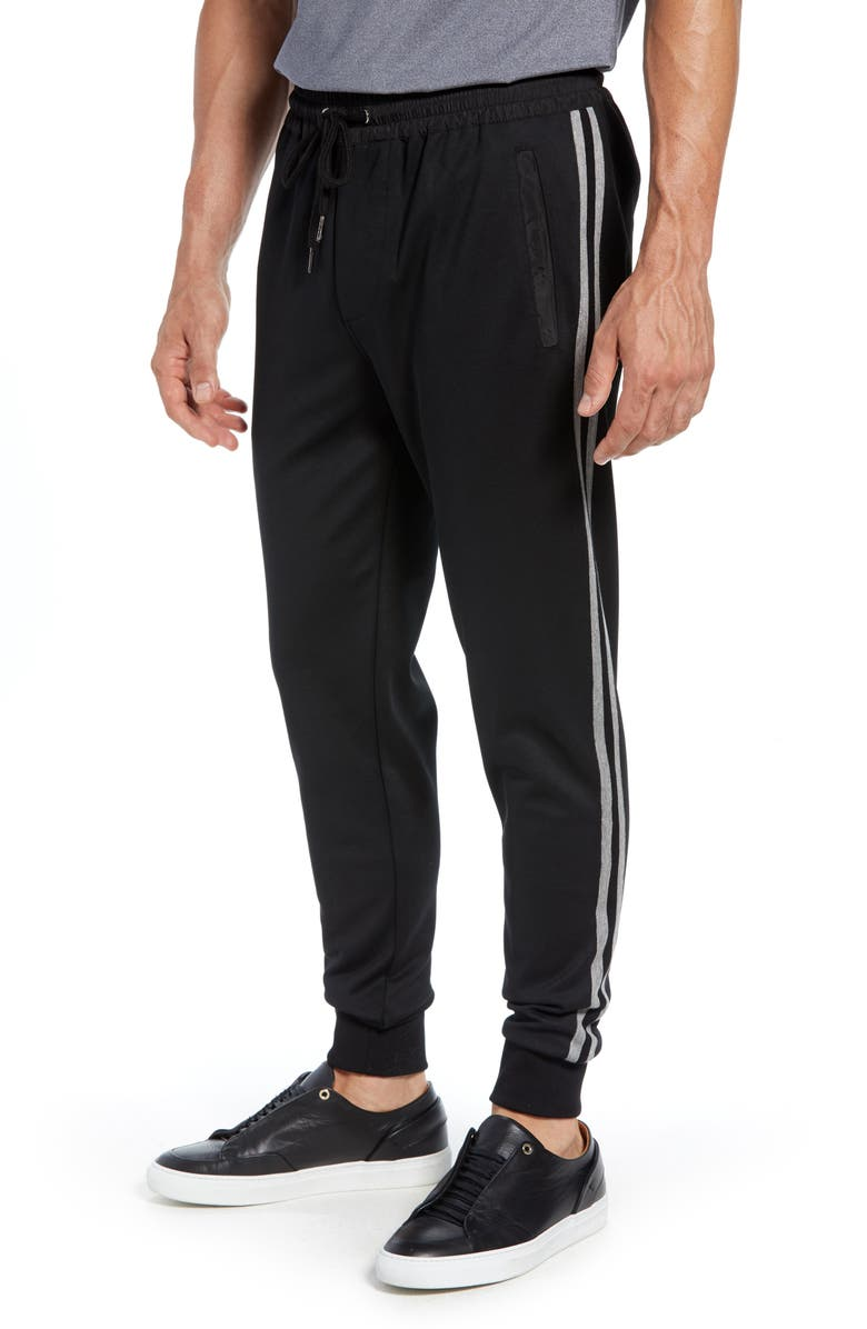 BUGATCHI Stripe Jogger Pants, Main, color, 001