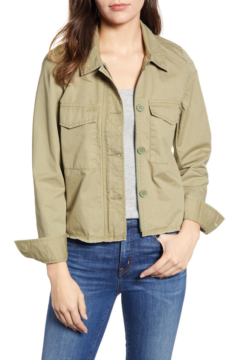 CASLON<SUP>®</SUP> Crop Utility Jacket, Main, color, 300