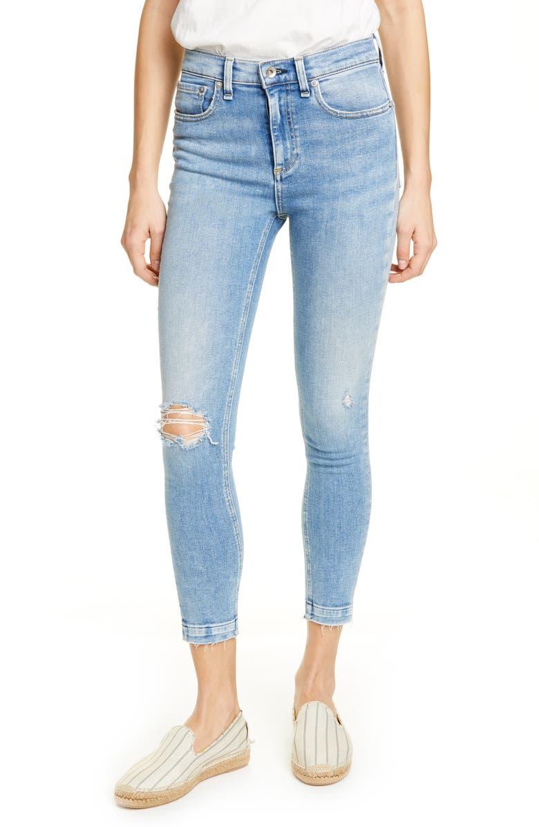 RAG & BONE Ankle Skinny Jeans, Main, color, 420