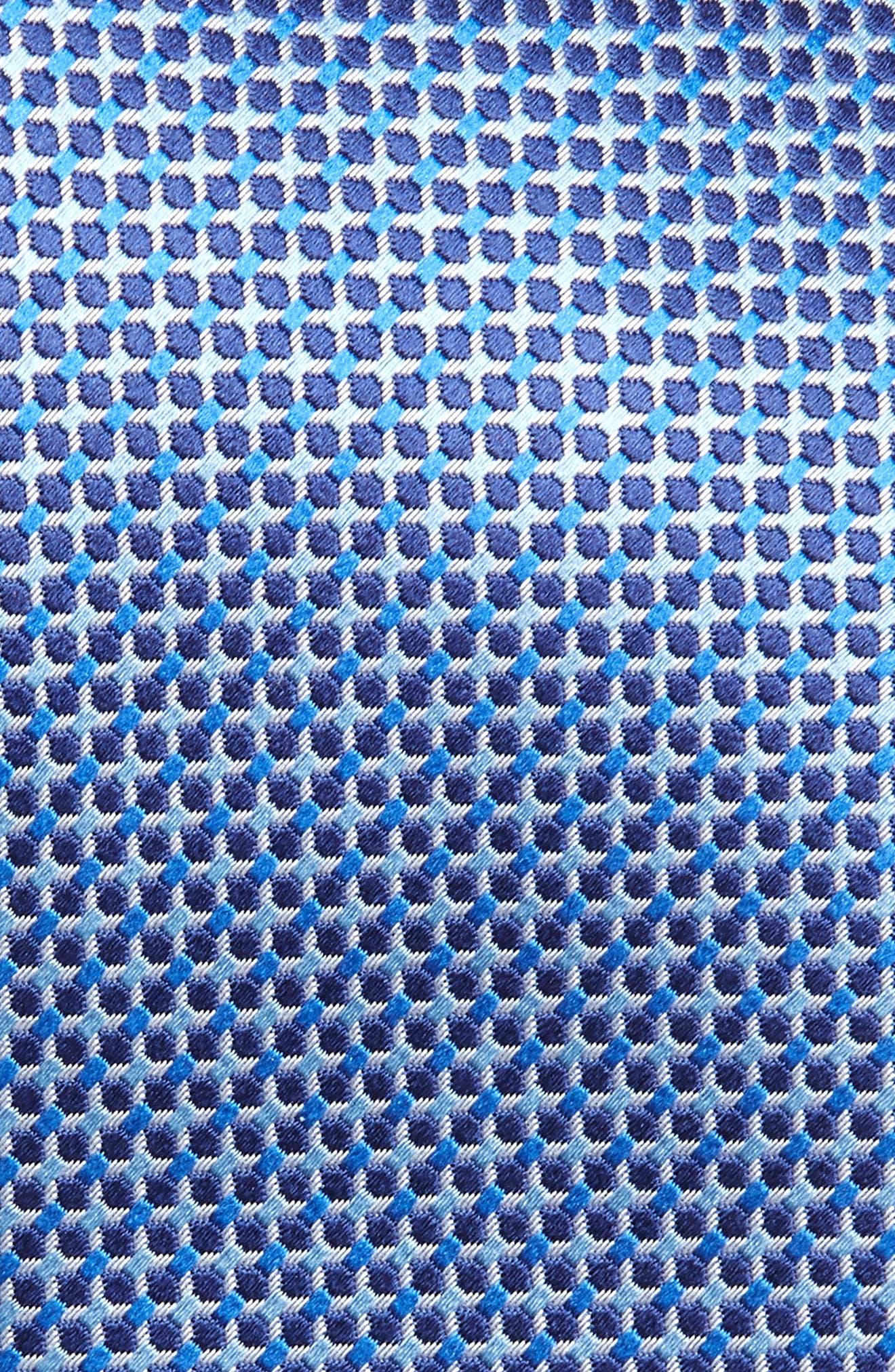 ,                             Geometric Silk Tie,                             Alternate thumbnail 2, color,                             NAVY
