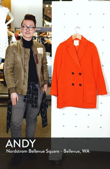 Hollis Double Breasted Coat, sales video thumbnail