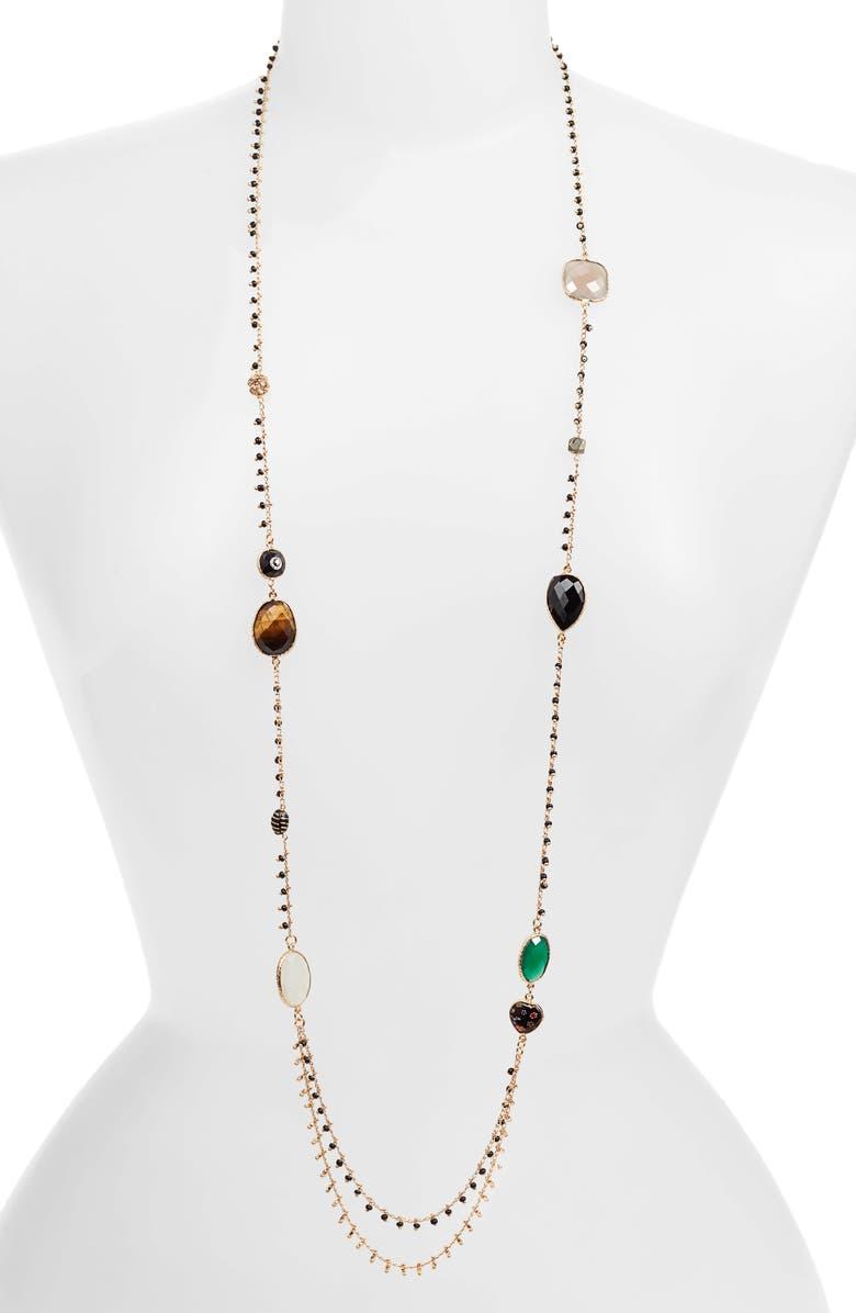 Serti Pondichery Stone Necklace