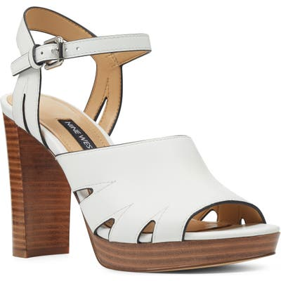 Nine West Delilah Cutout Sandal, White