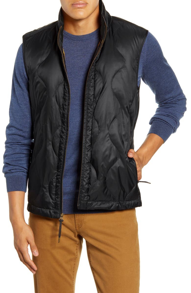 BILLY REID Onion Quilted Vest, Main, color, BLACK
