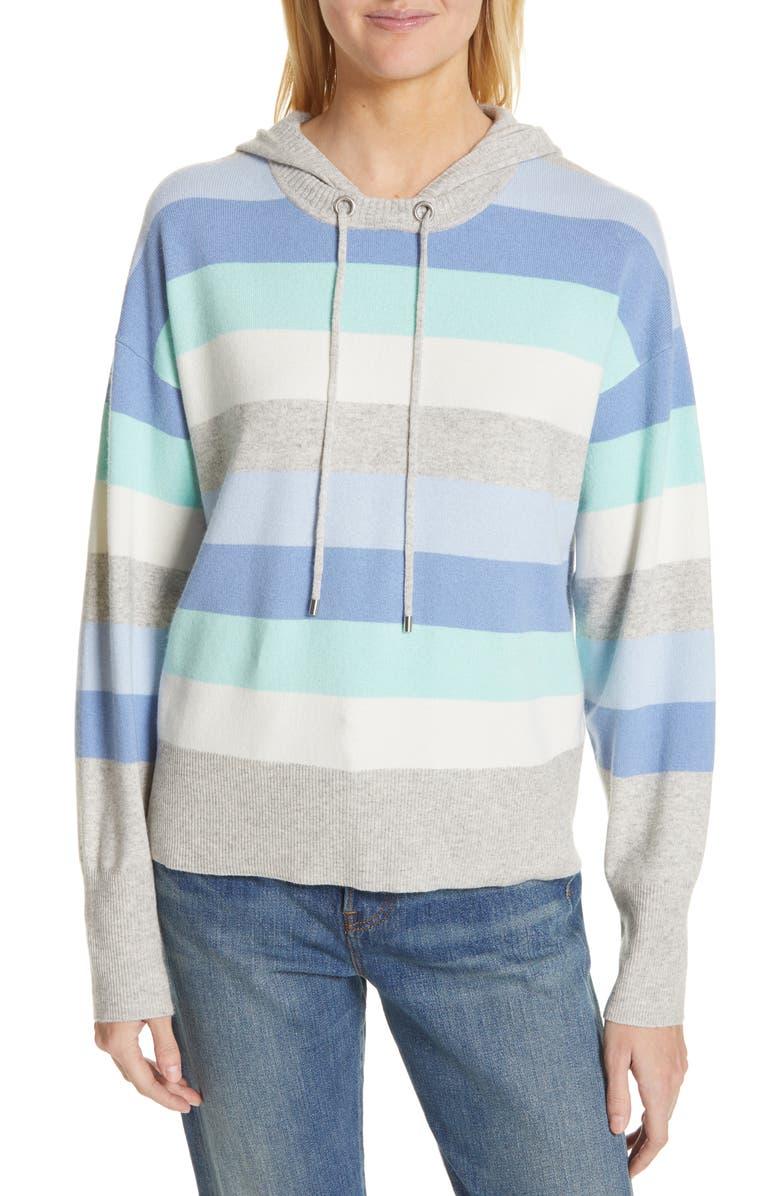 3833cae24 Nordstrom Signature Multi Stripe Silk & Cashmere Hoodie | Nordstrom