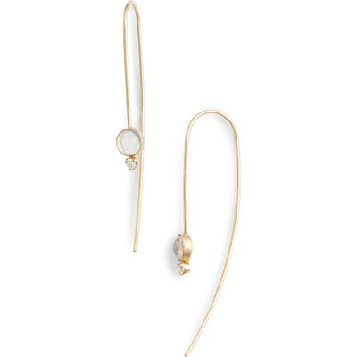 Zoe Chicco Moonstone & Diamond Threader Earrings