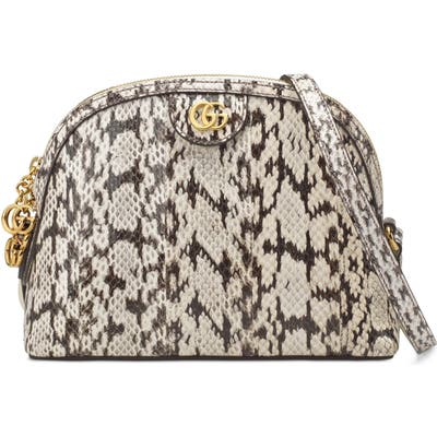 Gucci Smallgenuine Snakeskin Dome Satchel - Ivory