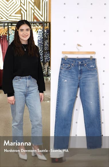 501<sup>®</sup> High Waist Straight Leg Jeans, sales video thumbnail