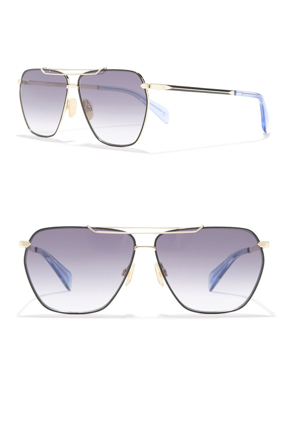 Image of Rag & Bone Women's 61mm Unique Brow Bar Sunglasses