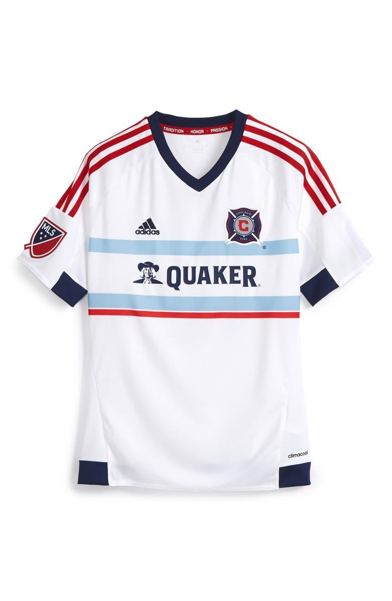 size 40 5425e adb4d adidas 'Chicago Fire' CLIMALITE® Away Soccer Jersey (Big ...