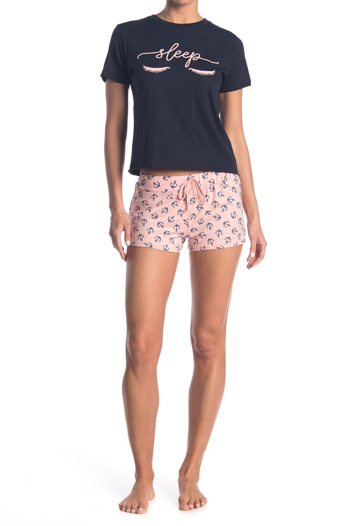Image of COZY ROZY Daydream Anchor 2-Piece Pajama Set
