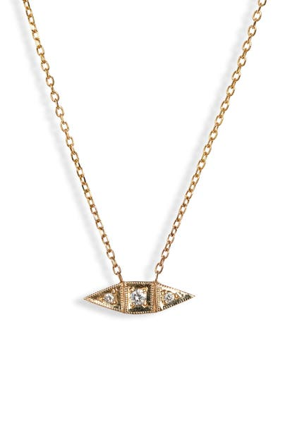 Jennie Kwon Designs Deco Point Diamond Necklace In Yellow Gold/ Diamond