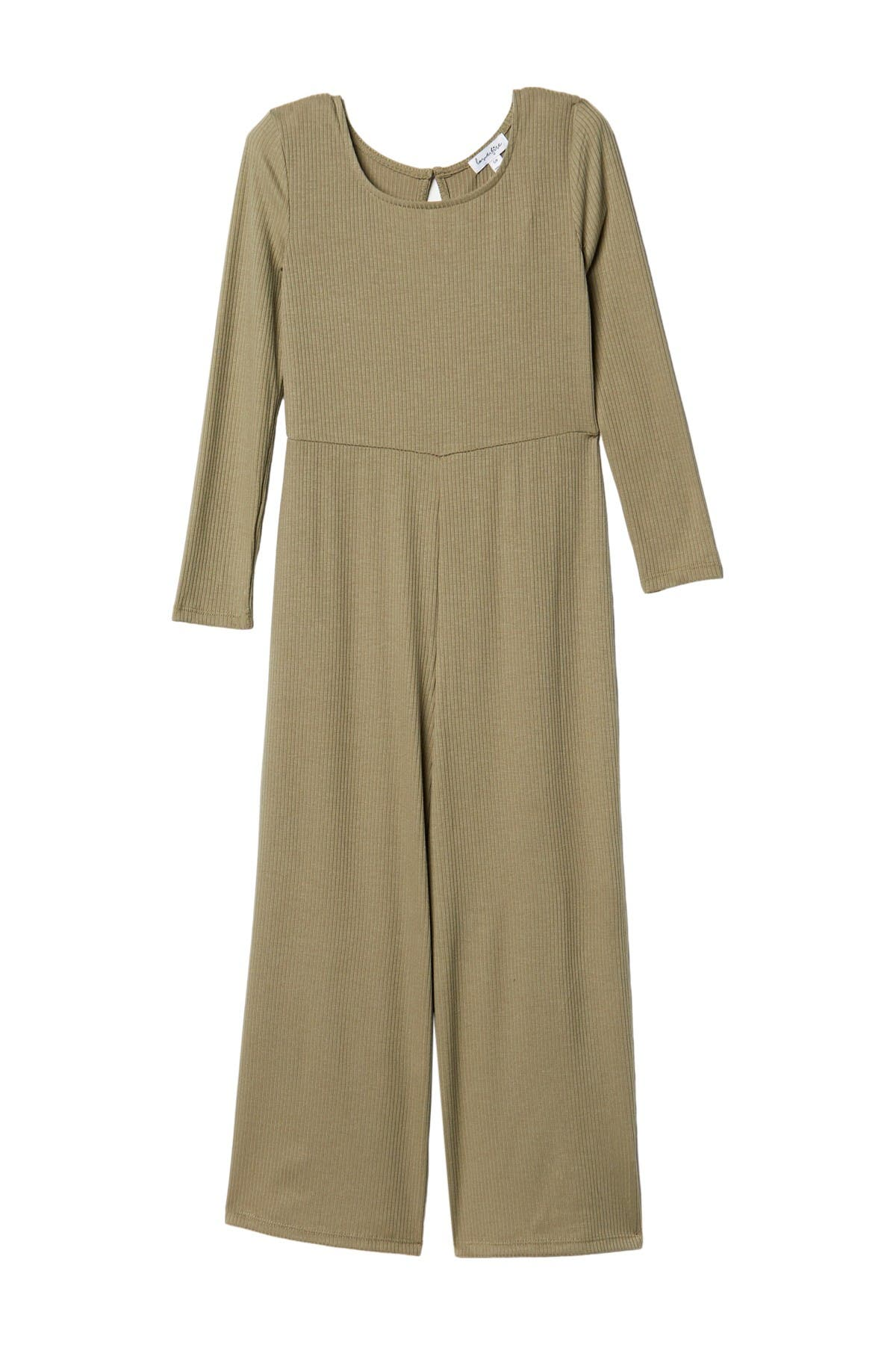 Image of Love, Fire Ribbed Knit Jumpsuit