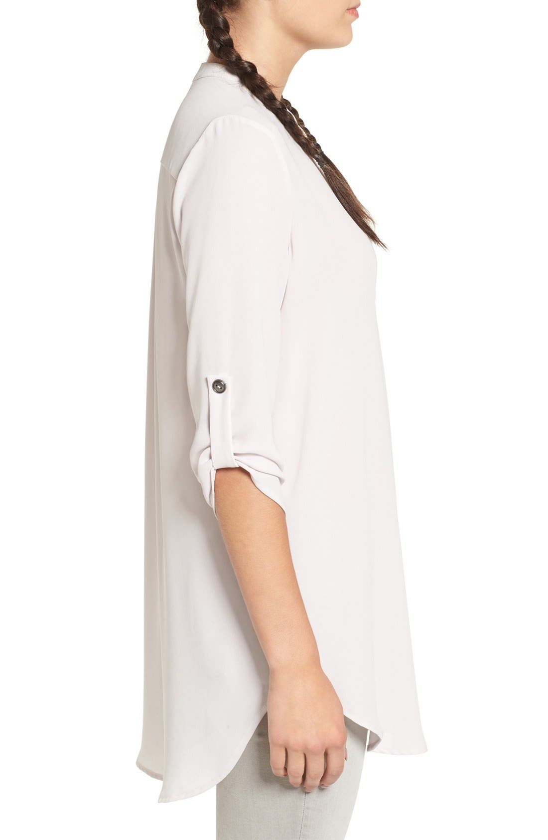 ,                             Perfect Roll Tab Sleeve Tunic,                             Alternate thumbnail 191, color,                             020
