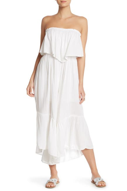 Image of BOHO ME Strapless Cover-Up Jumpsuit