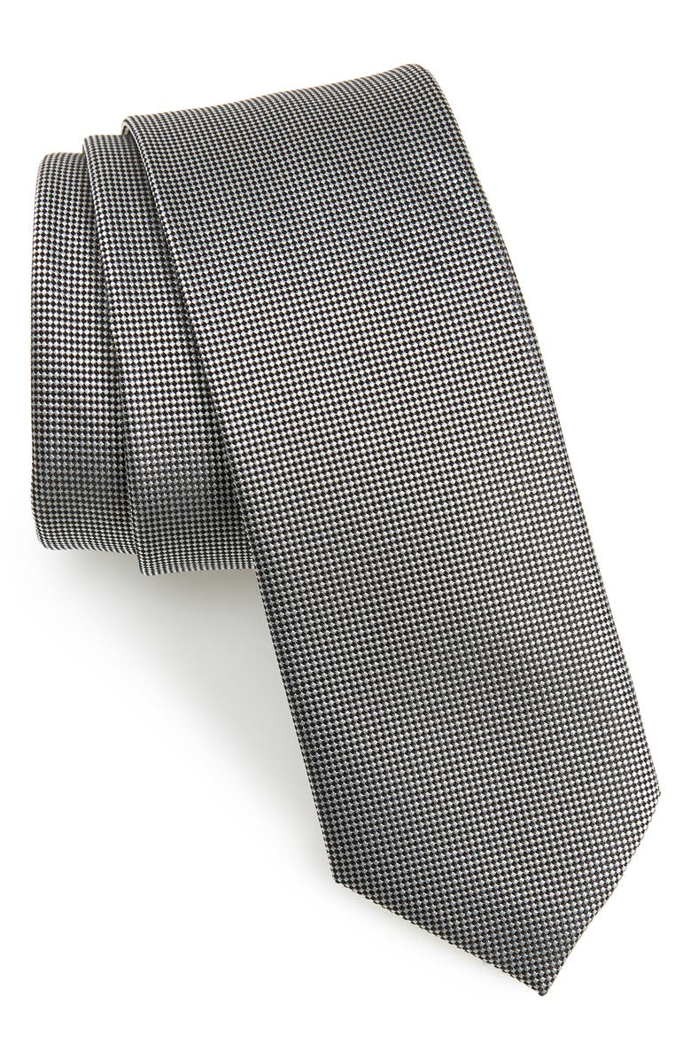1901 Aston Solid Silk Tie, Main, color, 001