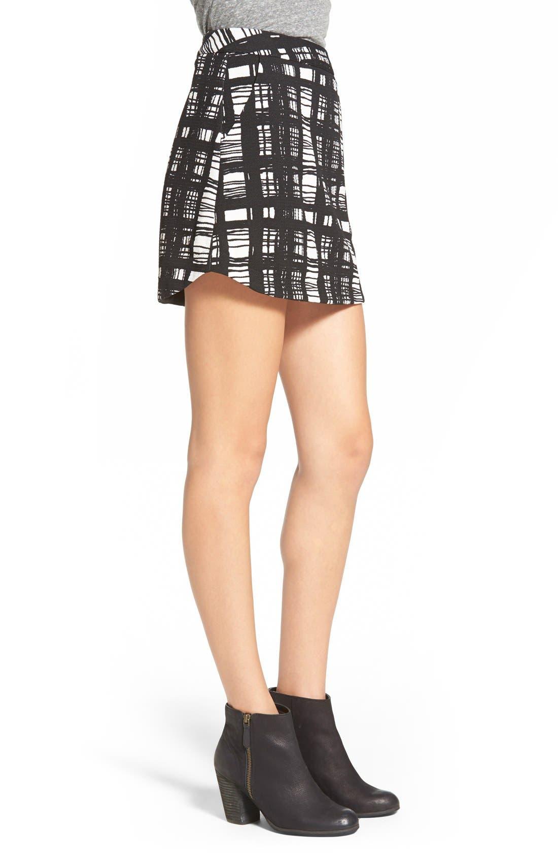 ,                             Knit Miniskirt,                             Alternate thumbnail 5, color,                             006