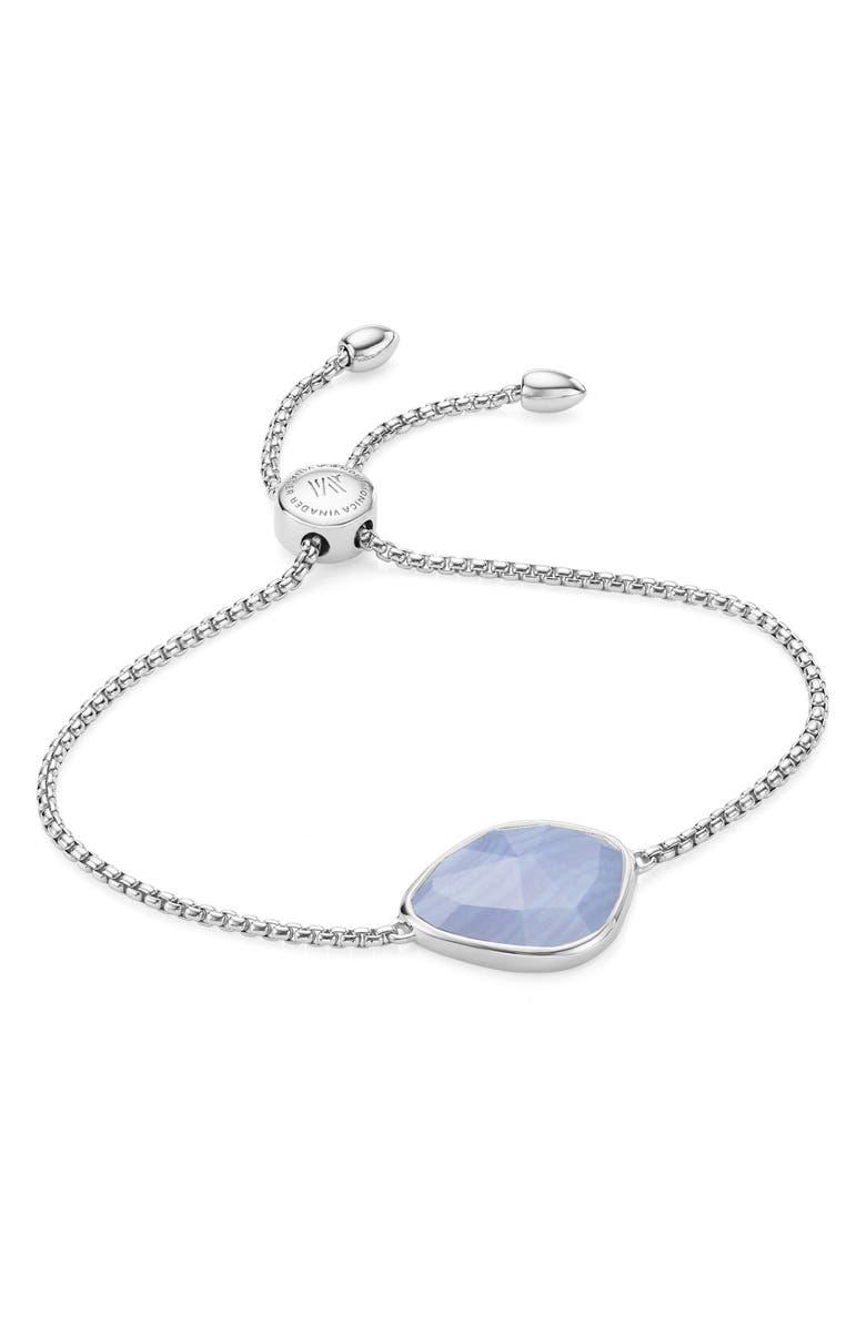 MONICA VINADER Siren Nugget Friendship Bracelet, Main, color, SILVER/ BLUE LACE AGATE