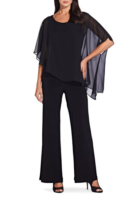 Image of Adrianna Papell Cape Jumpsuit