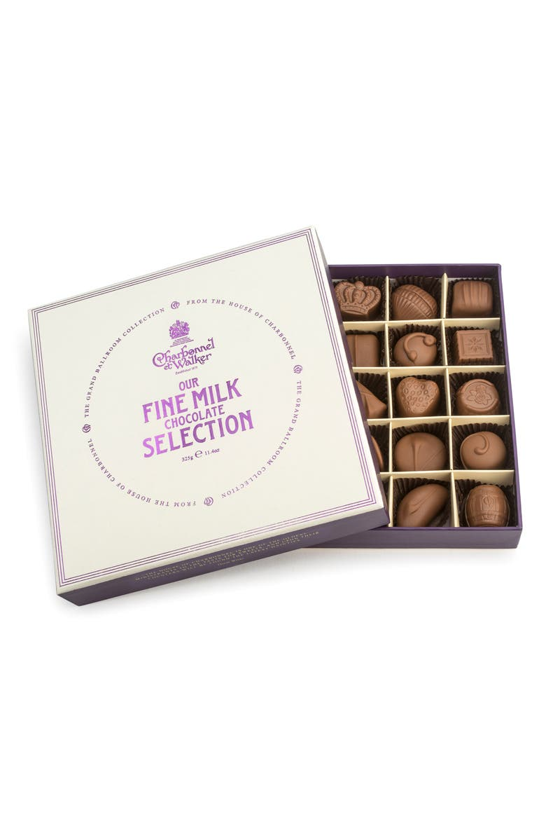 CHARBONNEL ET WALKER Fine Chocolate Selection in Gift Box, Main, color, MILK CHOCOLATE