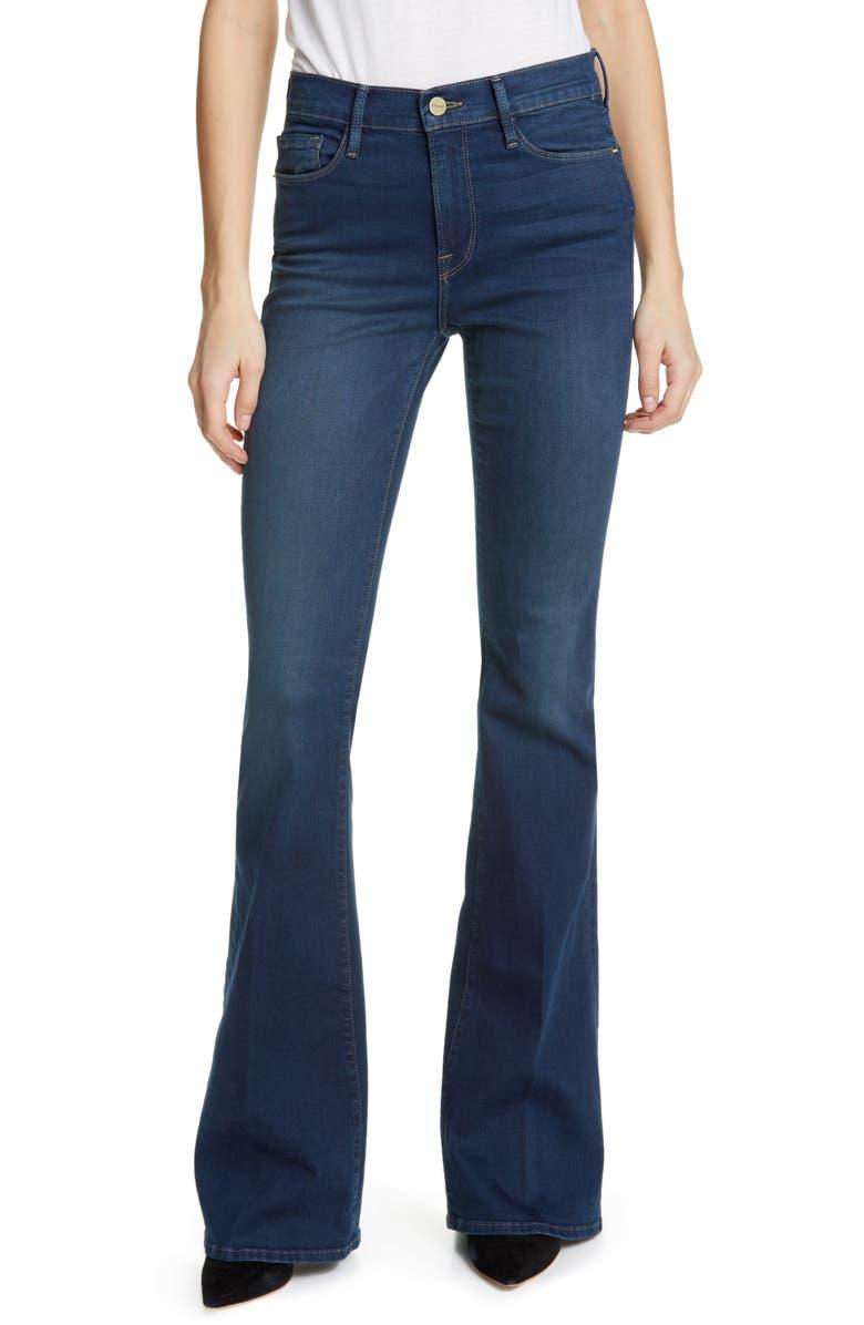 FRAME Forever Karlie High Waist Flare Jeans, Main, color, PALISADES