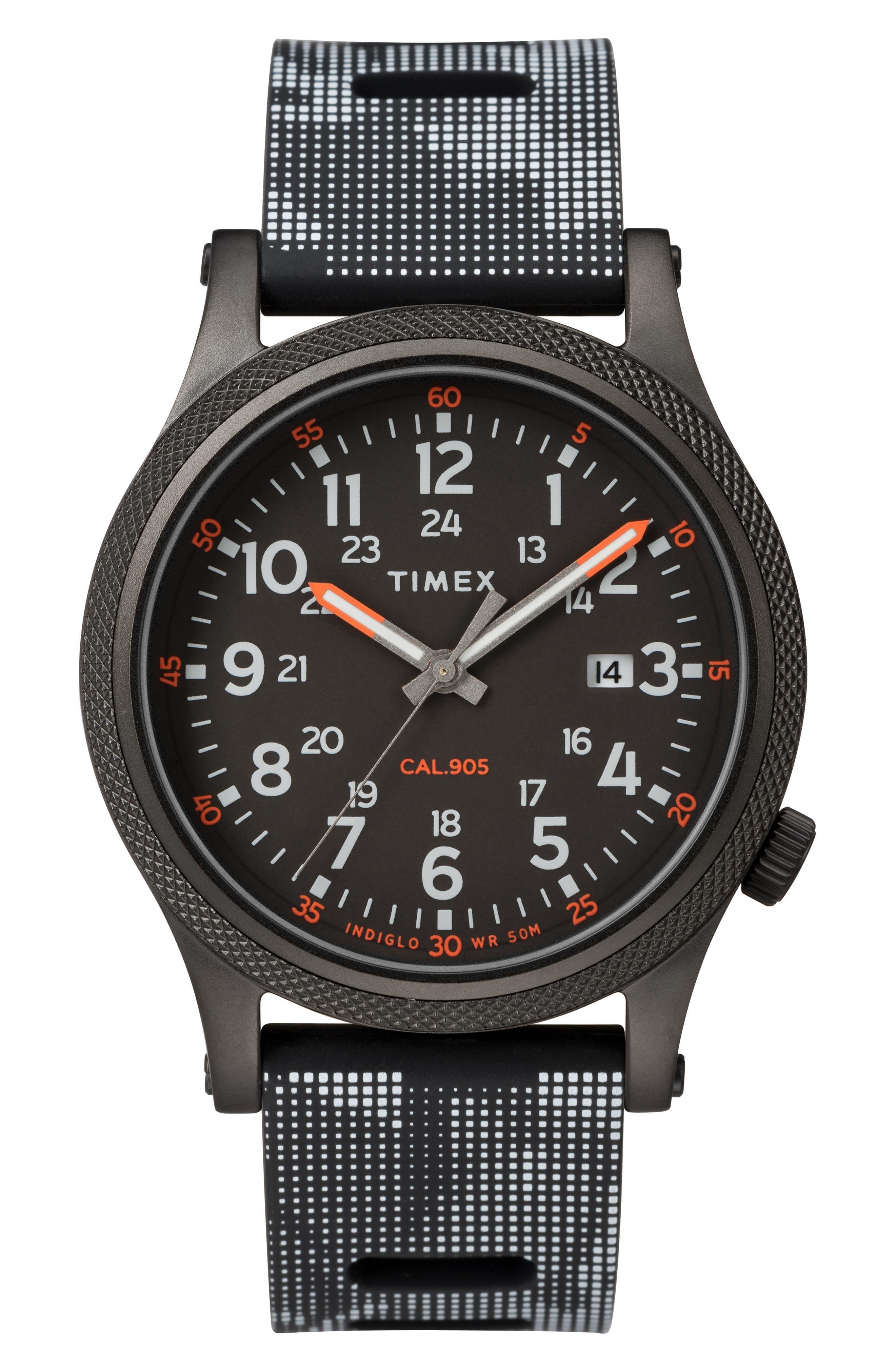 Timex Allied Silicone Strap Watch, 40Mm