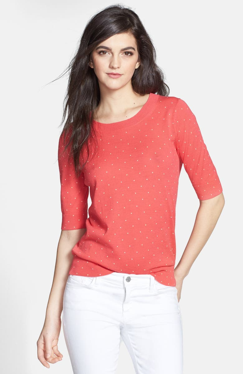 HINGE <sup>®</sup> Polka Dot Half Sleeve Sweater, Main, color, 670