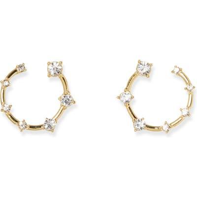 Vince Camuto Crystal Hoop Earrings