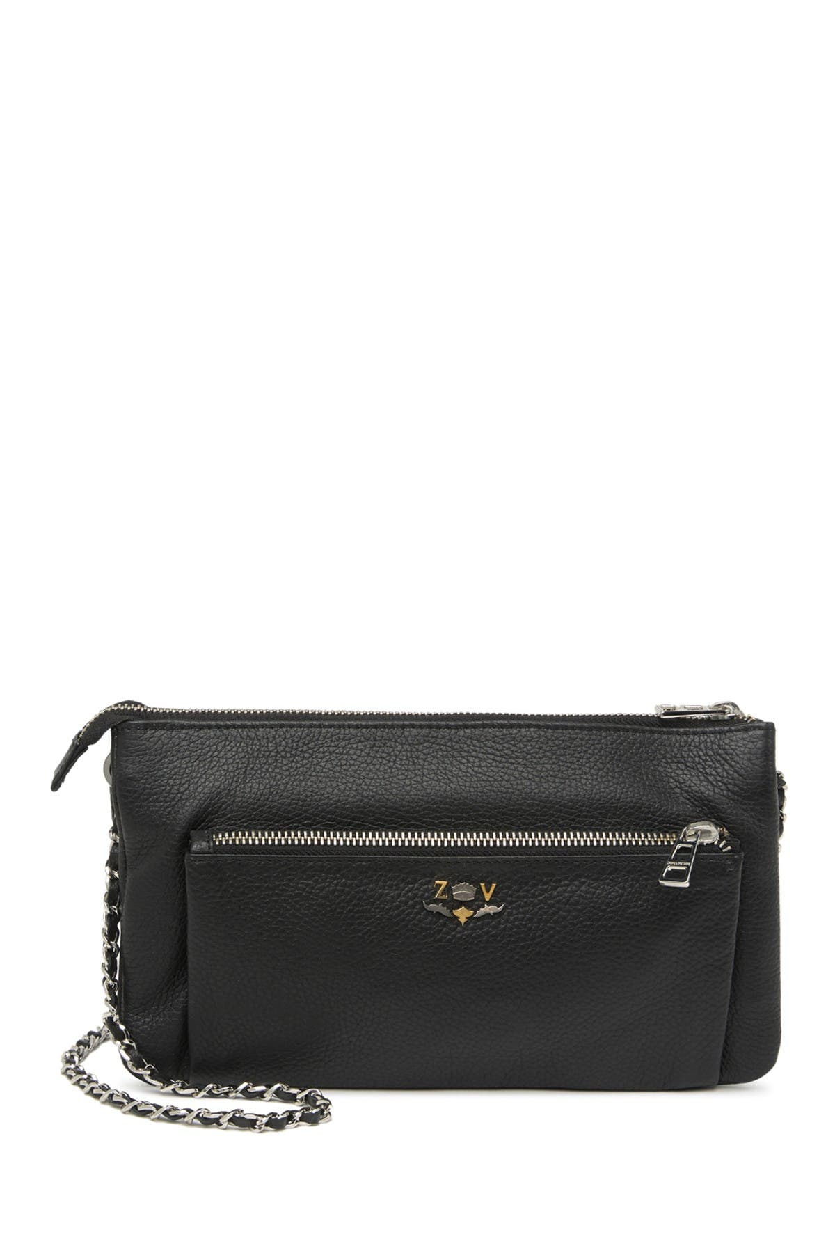 Image of Zadig & Voltaire Rick Blason Grained Leather Crossbody Bag