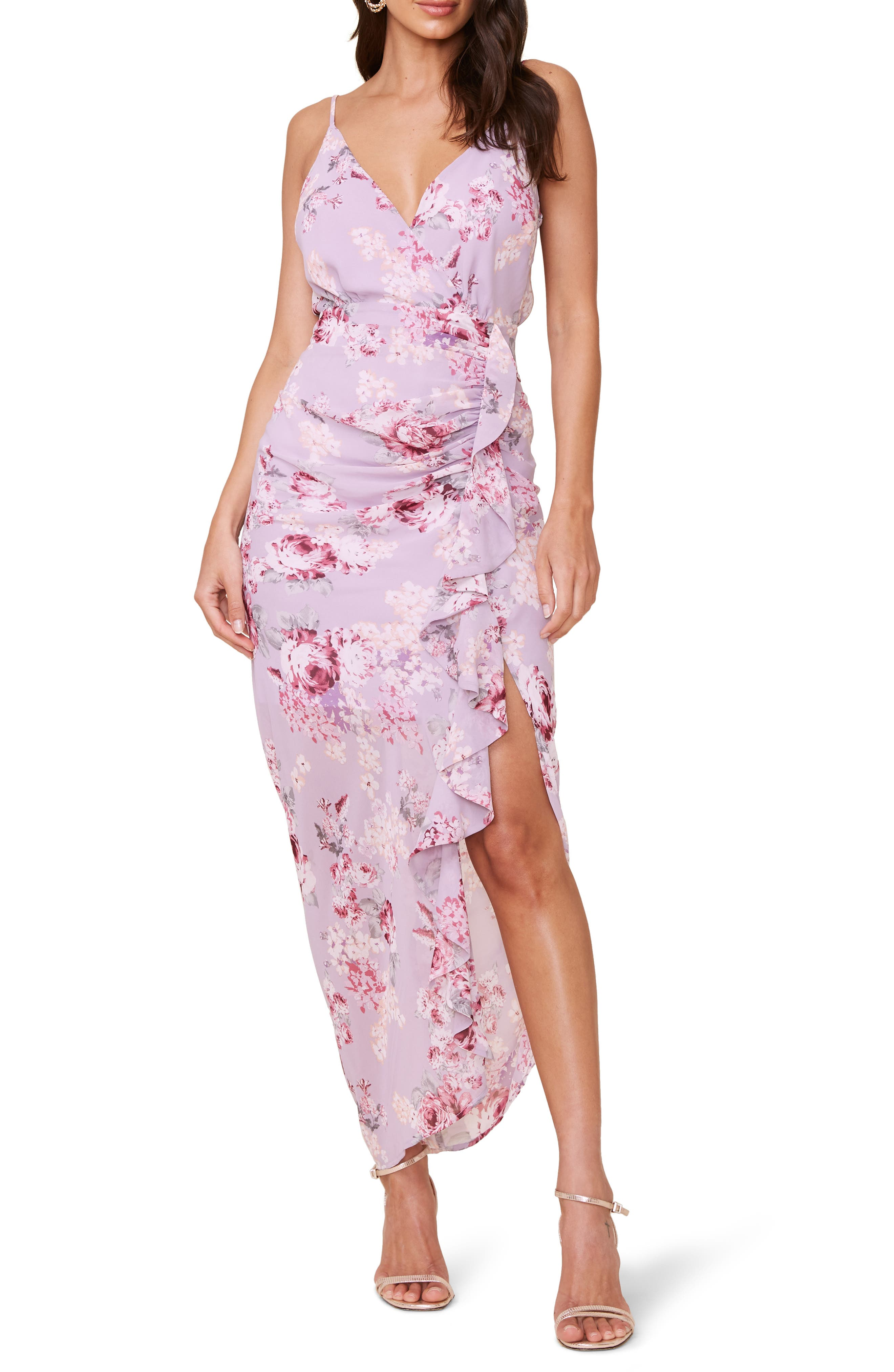 ASTR the Label Floral Ruffle Chiffon Dress | Nordstrom