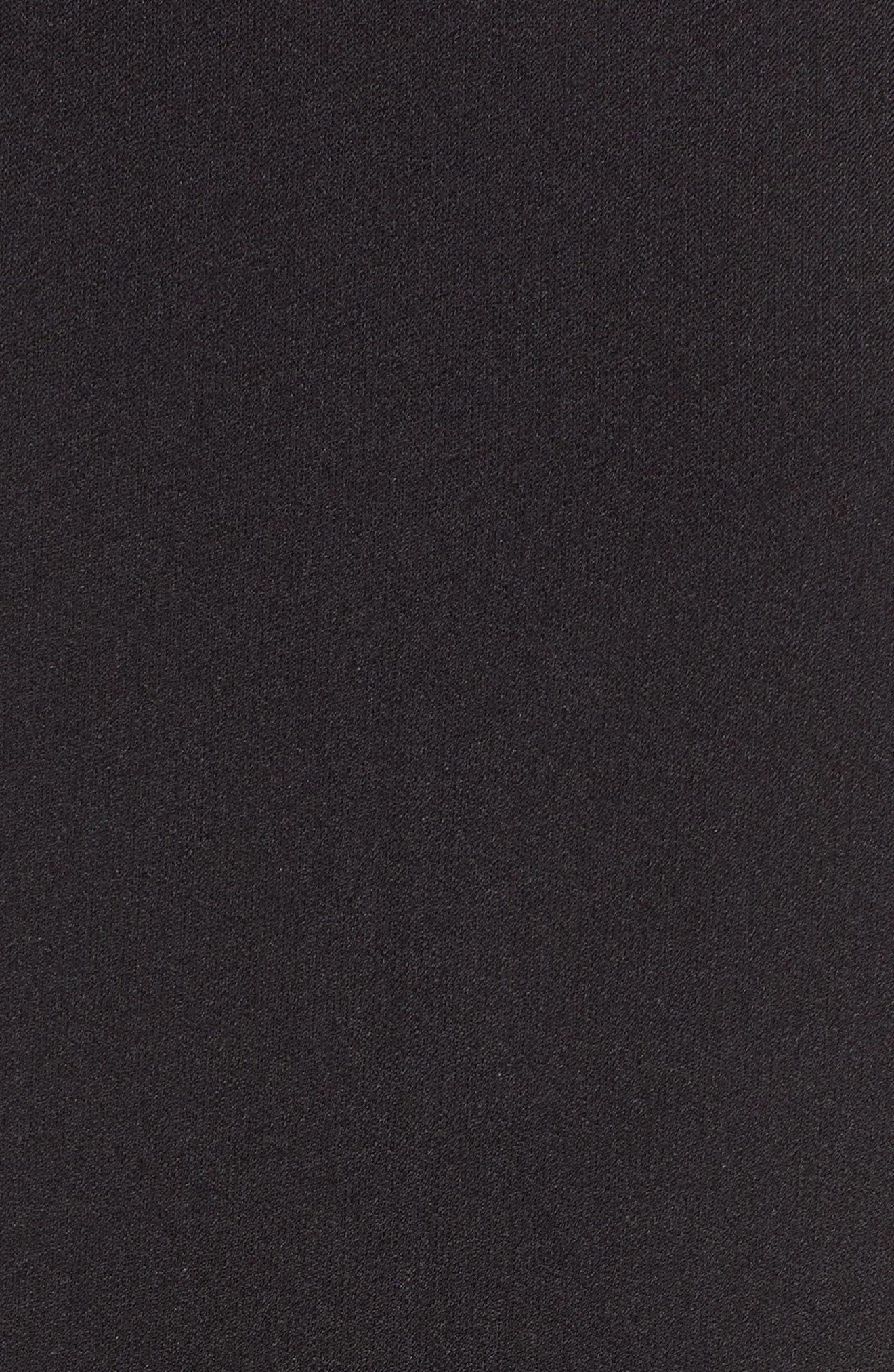 ,                             Hunter Crepe Ruffle Shoulder Jumpsuit,                             Alternate thumbnail 6, color,                             BLACK