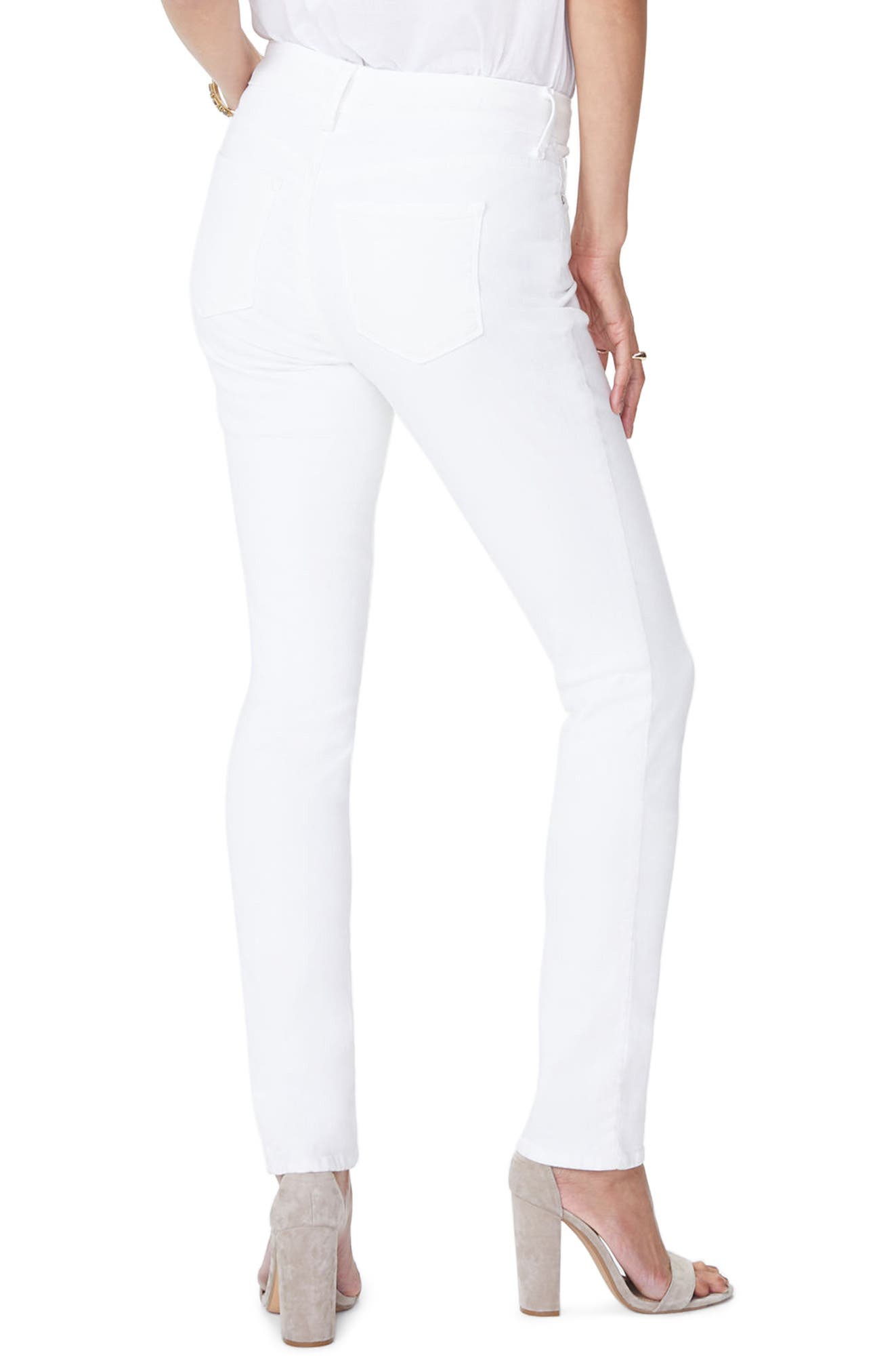 ,                             Marilyn High Waist Stretch Straight Jeans,                             Alternate thumbnail 2, color,                             OPTIC WHITE