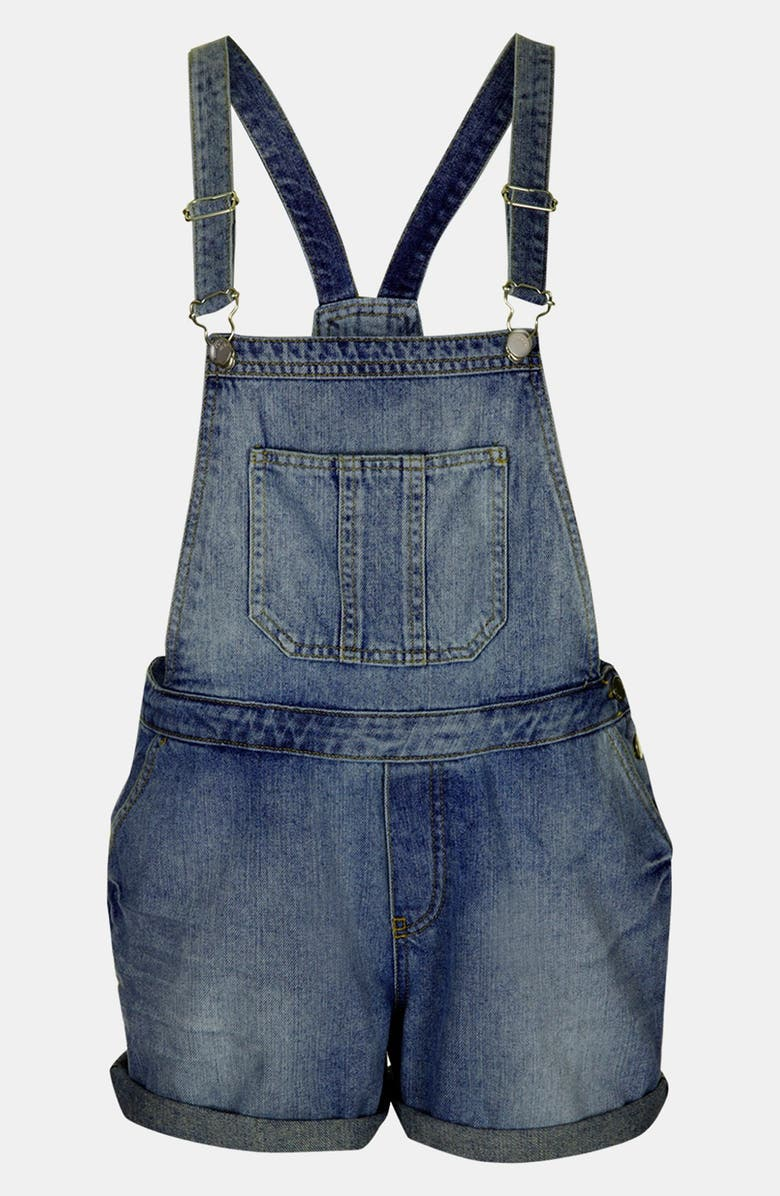 TOPSHOP Moto 'Tommy' Short Overalls, Main, color, 400