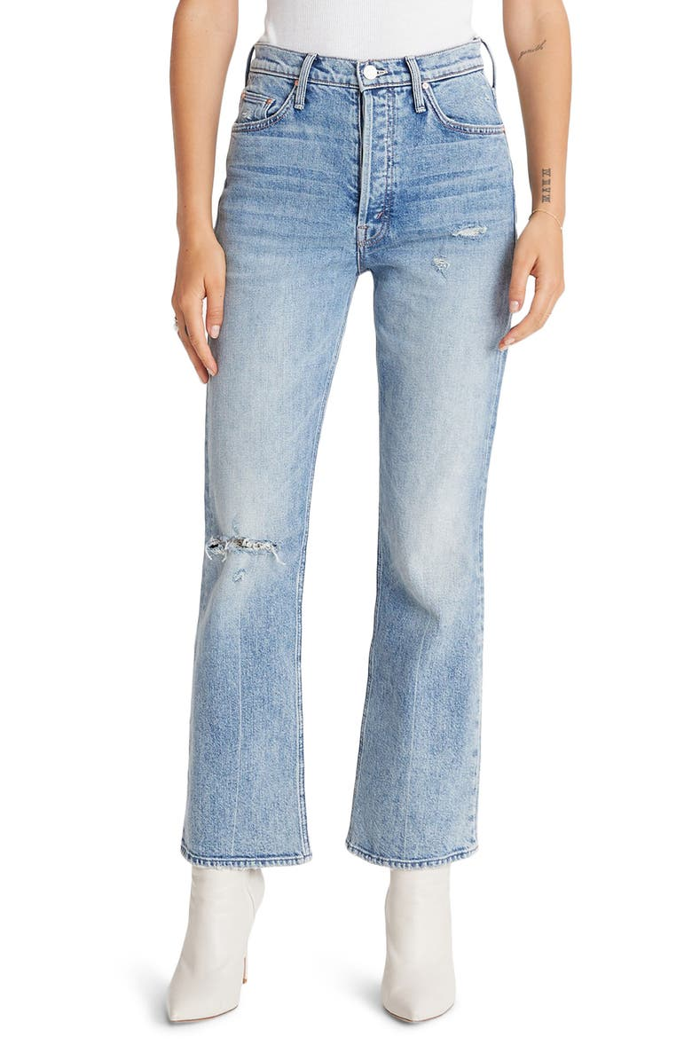 MOTHER The Tripper High Waist Crop Bootcut Jeans, Main, color, 20 MINUTES