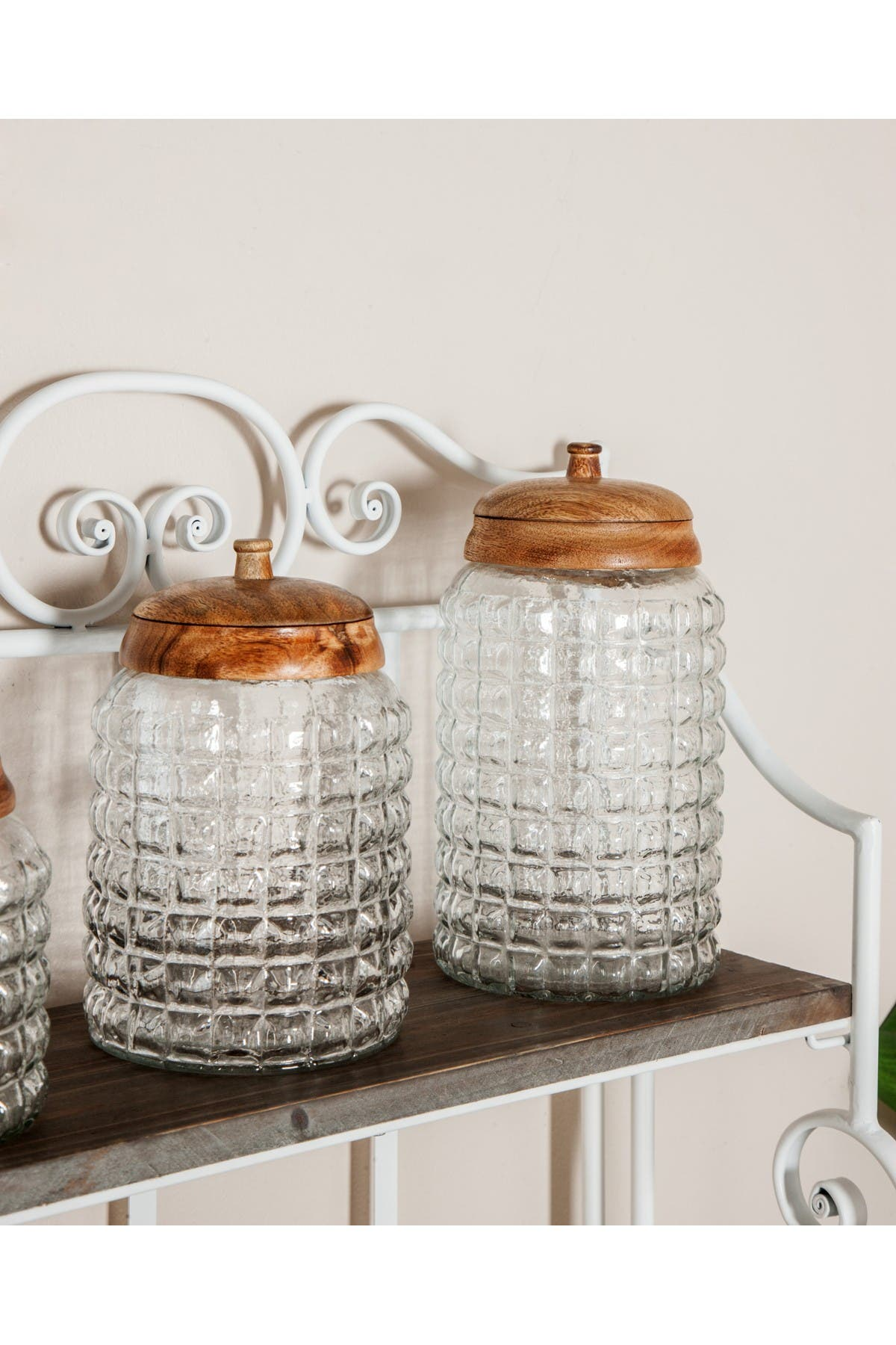 Image of Willow Row Traditional Round Glass Box     Set of 3