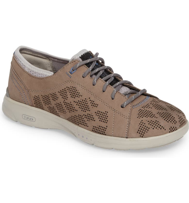 ROCKPORT truFLEX Perforated Sneaker, Main, color, SAND LEATHER