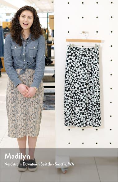 Ditsy Floral Midi Skirt, sales video thumbnail