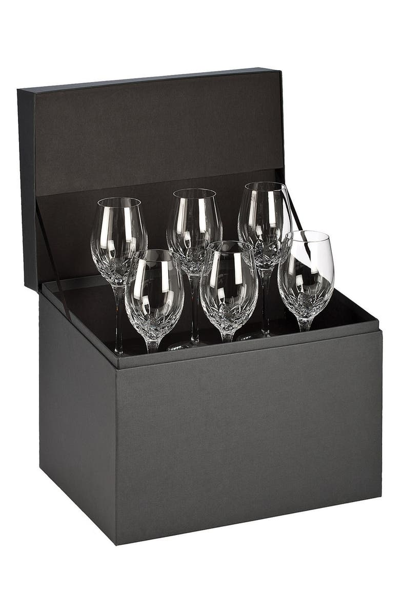 WATERFORD 'Lismore Essence' Lead Crystal White Wine Glasses, Main, color, CLEAR