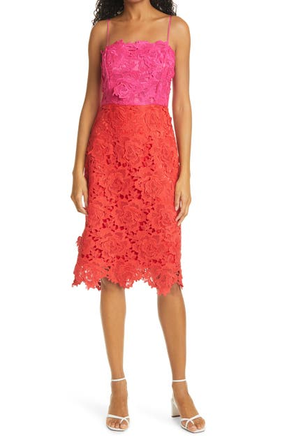 Milly FLORAL LACE SHEATH DRESS