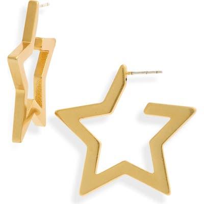 Madewell Star Hoop Earrings