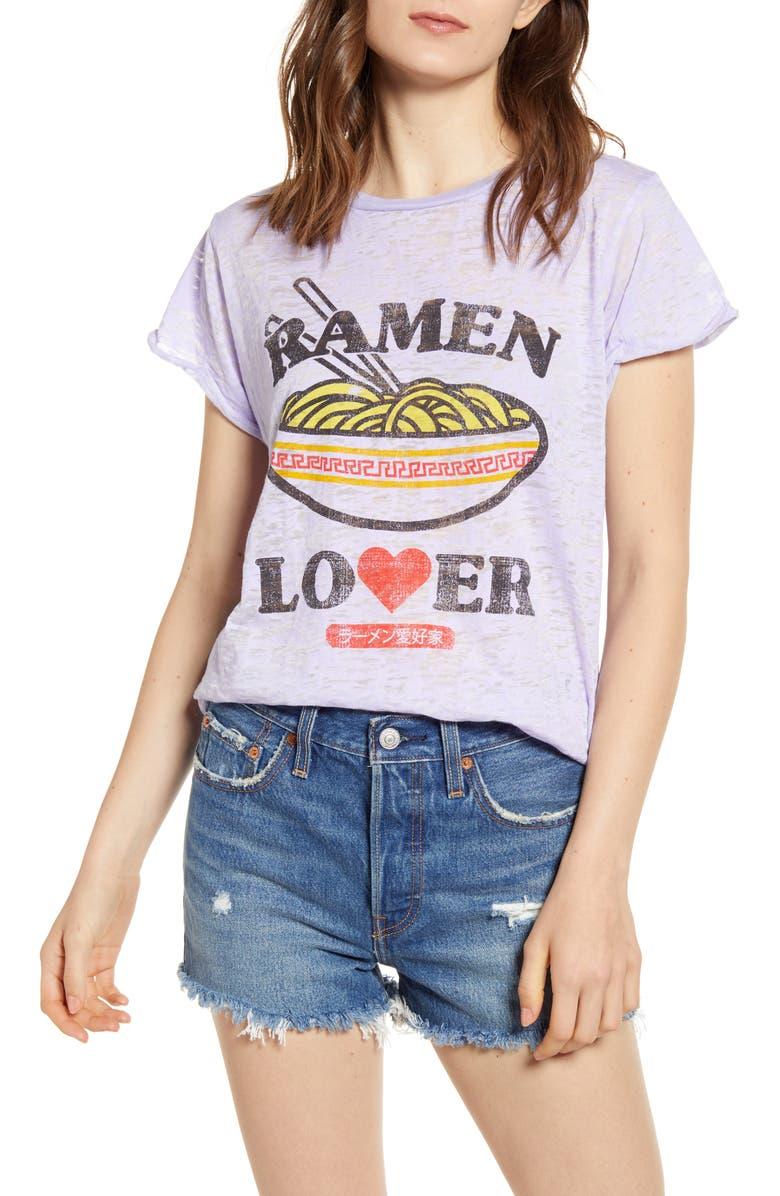 PROJECT KARMA Ramen Lover Burnout Graphic Tee, Main, color, 500