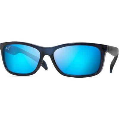 Maui Jim Puhi 5m Polarized Sunglasses - Translucent Navy