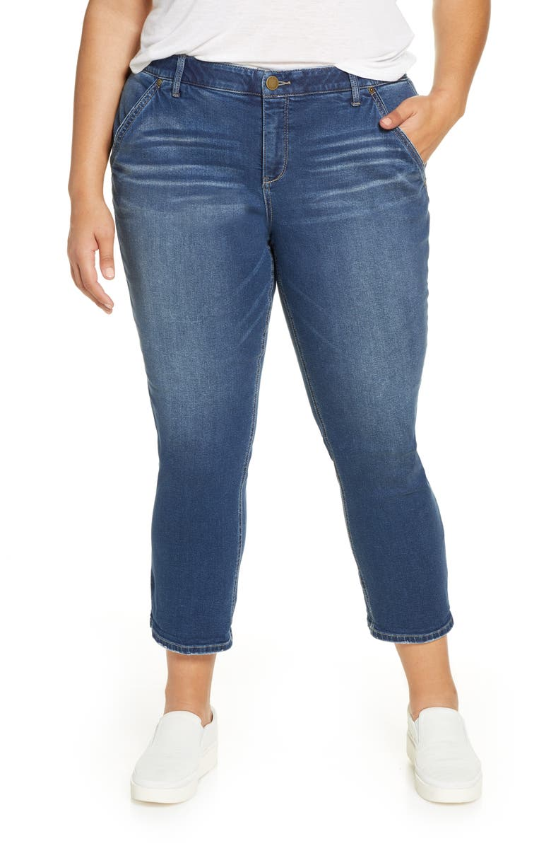 WIT & WISDOM Ab-Solution Straight Leg Jeans, Main, color, 420