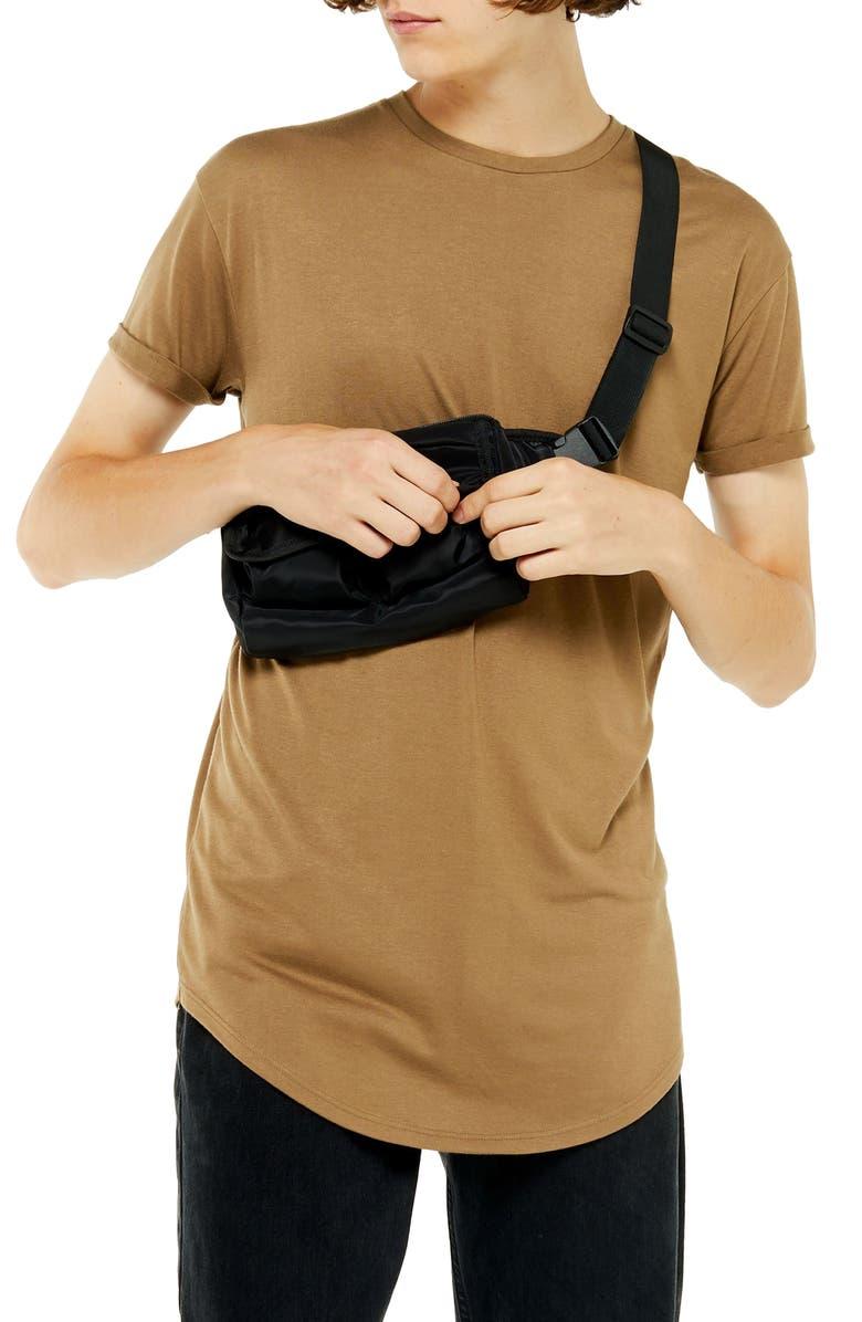TOPMAN Scotty Longline Slim Fit T-Shirt, Main, color, LIGHT BROWN