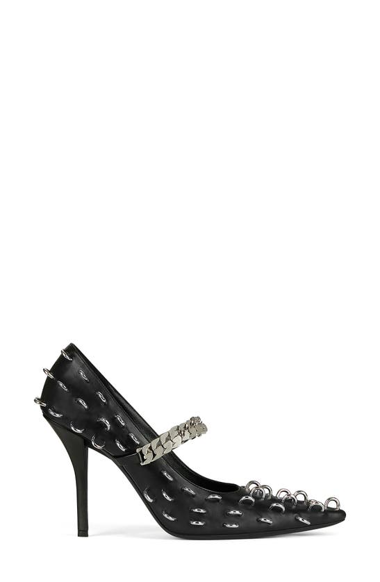 Givenchy Mid heels CHAIN STRAP PIERCED POINTED TOE PUMP