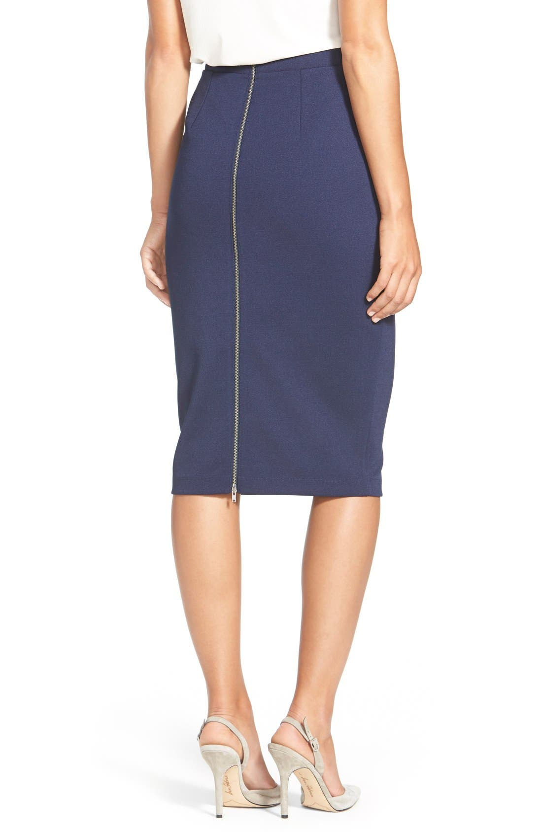 ,                             Zip Back Knit Pencil Skirt,                             Alternate thumbnail 13, color,                             410