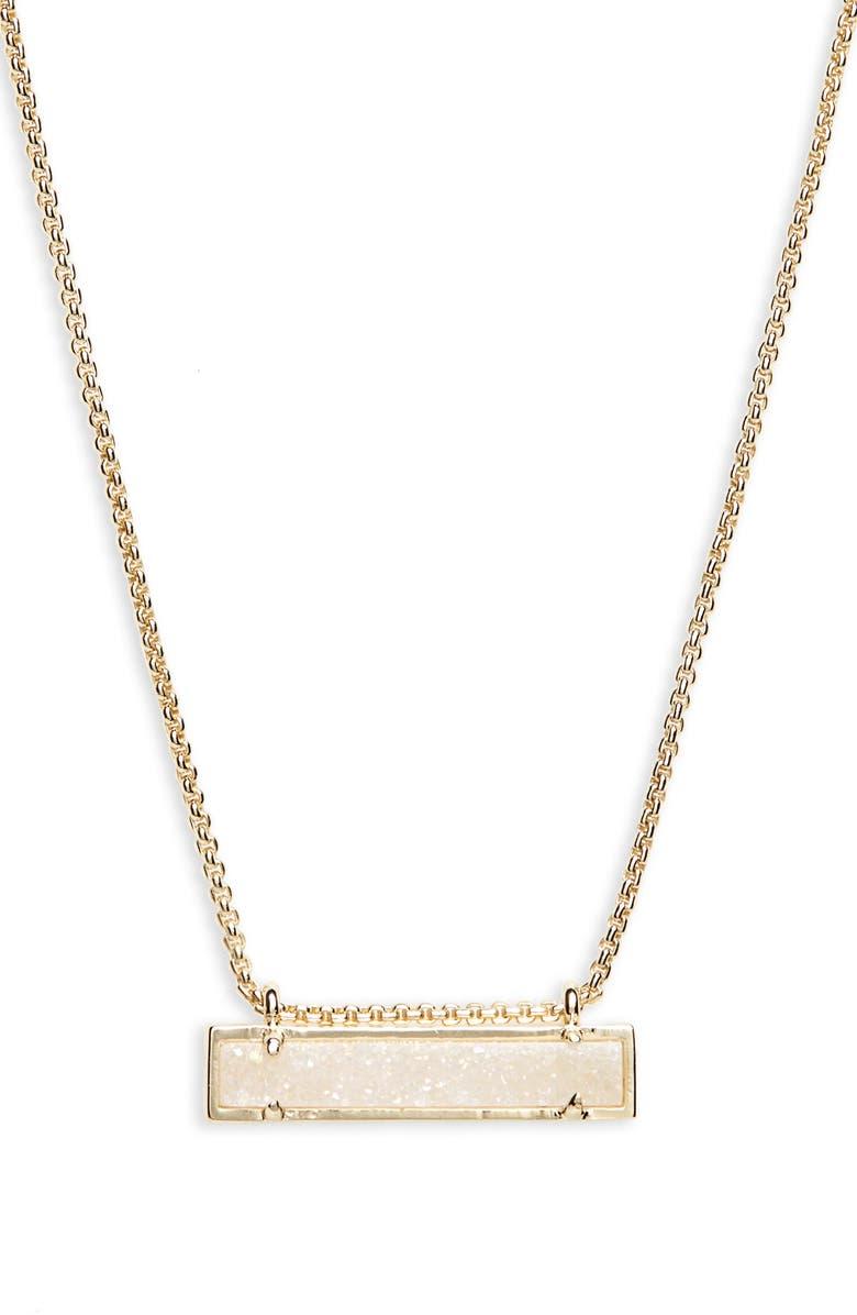 KENDRA SCOTT Leanor Pendant Necklace, Main, color, IRIDESCENT DRUSY/ GOLD